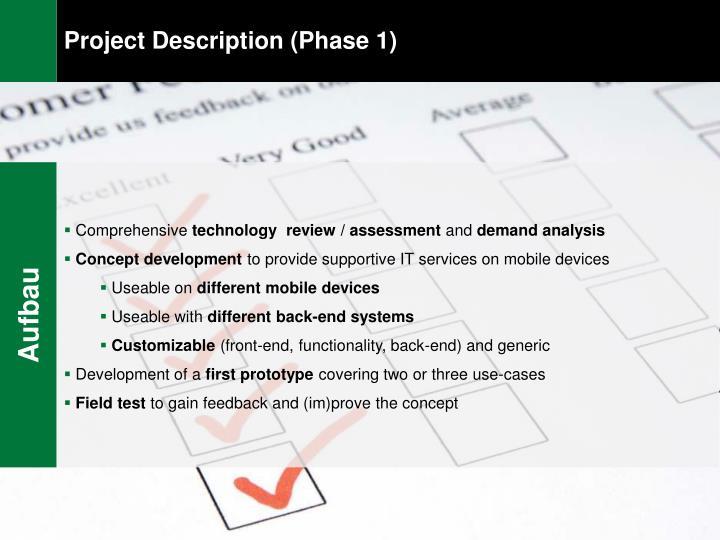 Project Description (Phase 1)