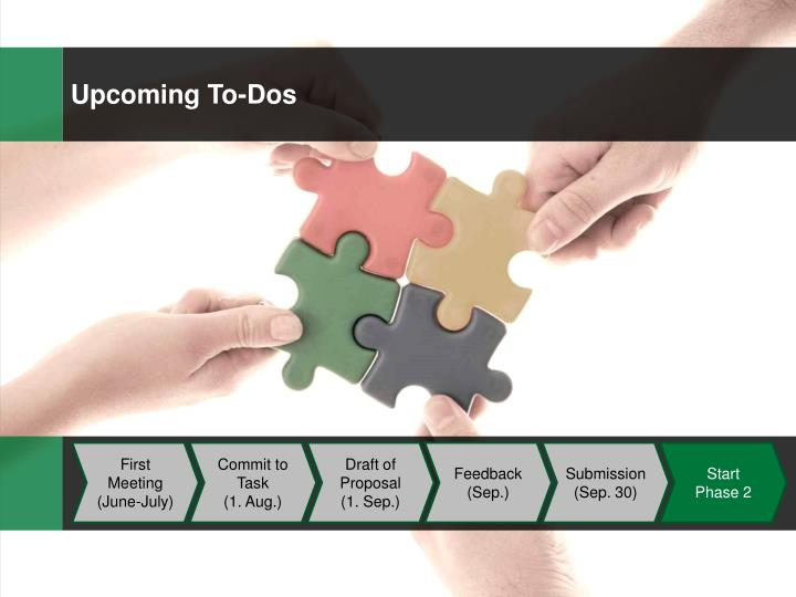 Upcoming To-Dos