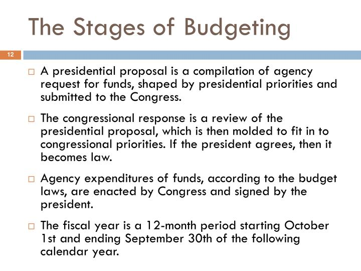 The Stages of Budgeting