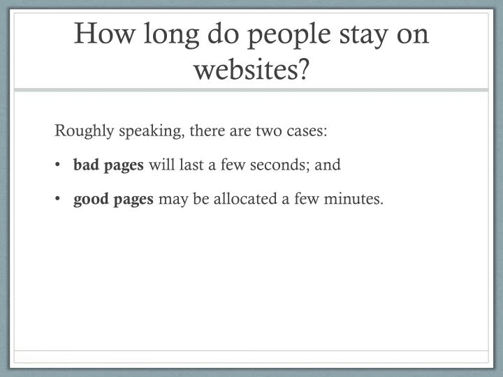 How long do people stay on websites?