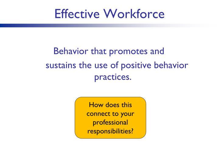 Effective Workforce