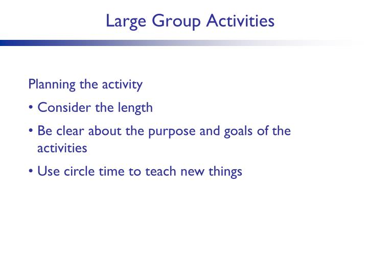 Large Group Activities