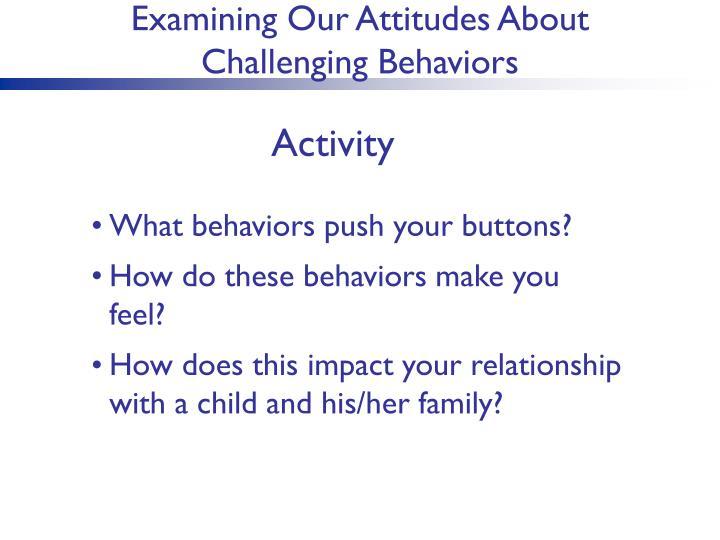 Examining Our Attitudes