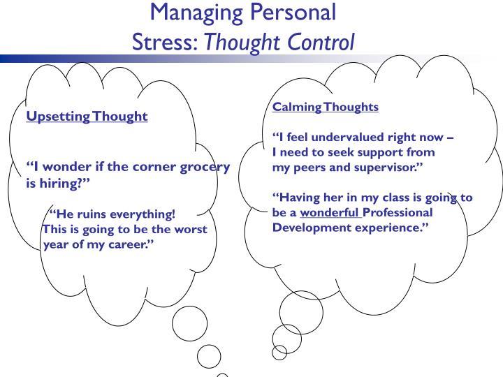 Managing Personal