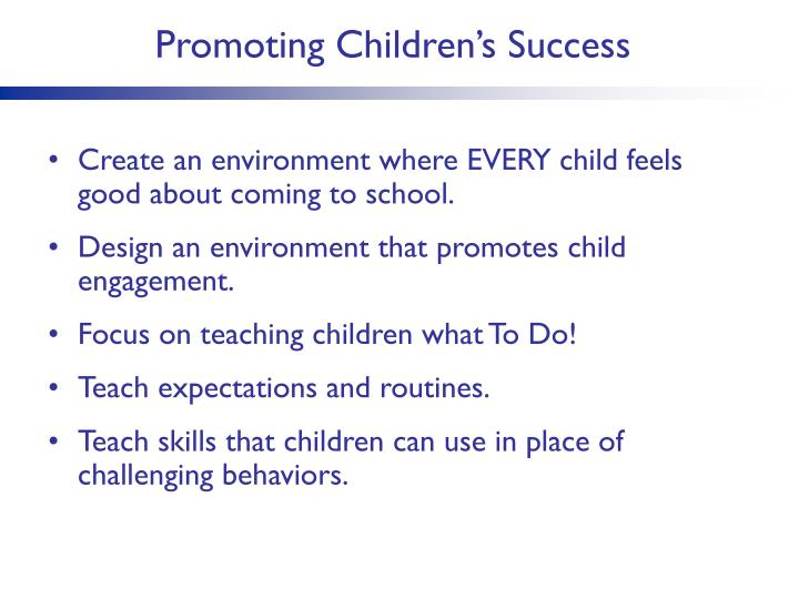 Promoting Children's