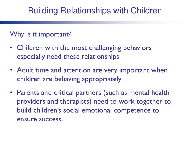 Building Relationships with Children