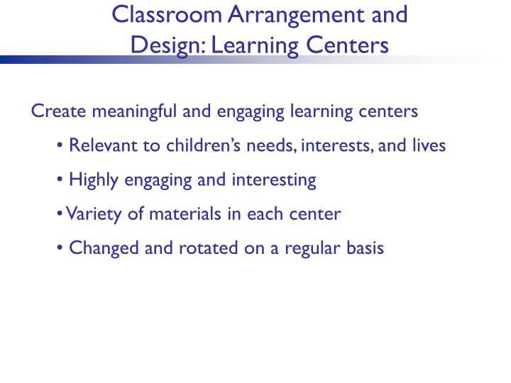 Classroom Arrangement and