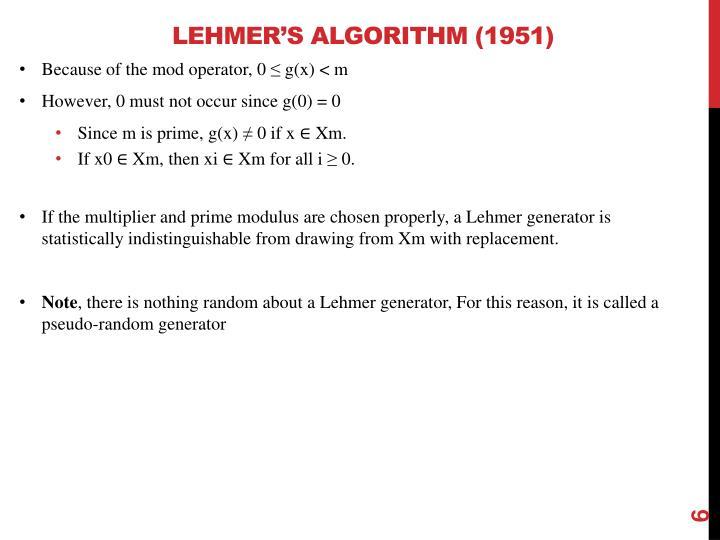 Lehmer's