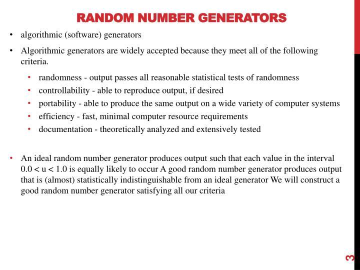 Random number generators1