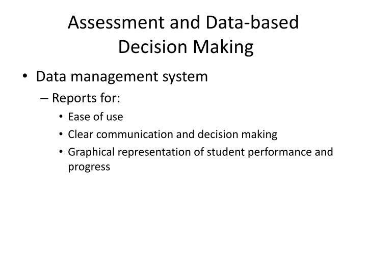 Assessment and Data-based