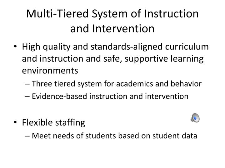 Multi-Tiered System of Instruction