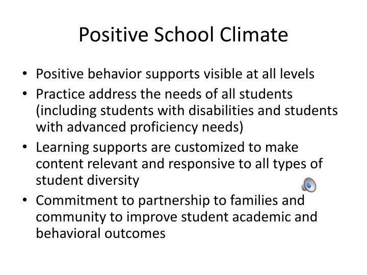 Positive School Climate