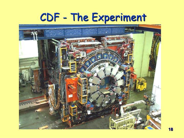 CDF - The Experiment