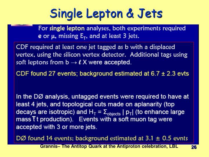 Single Lepton & Jets