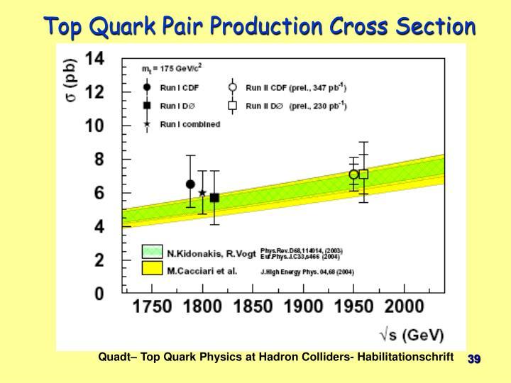 Top Quark Pair Production Cross Section