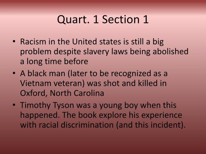 Quart 1 section 1