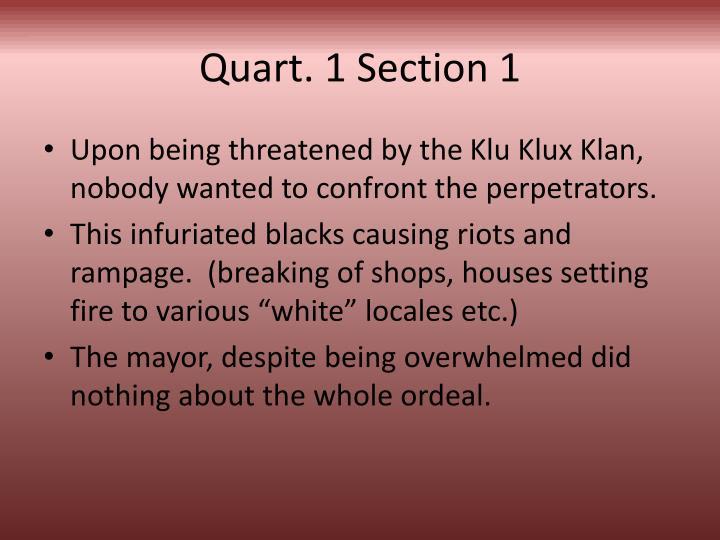 Quart 1 section 11