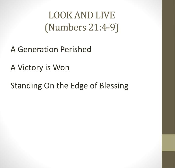 look and live numbers 21 4 9