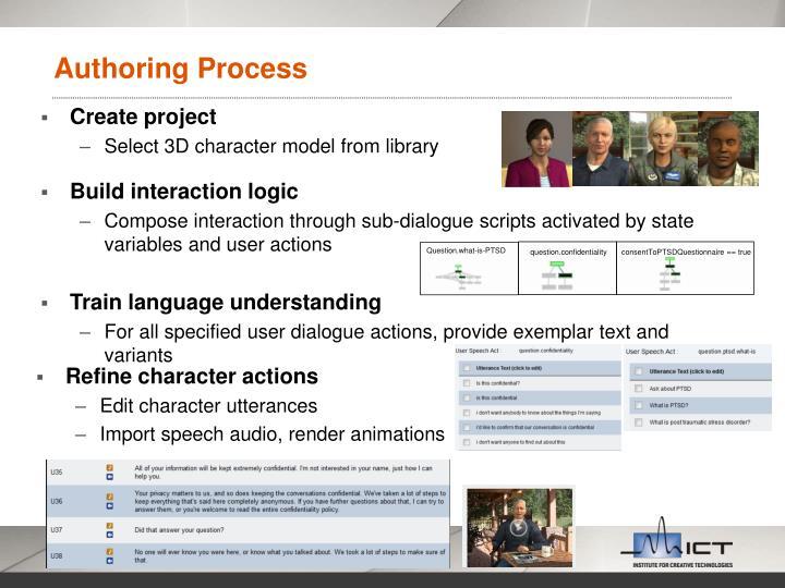 Authoring Process