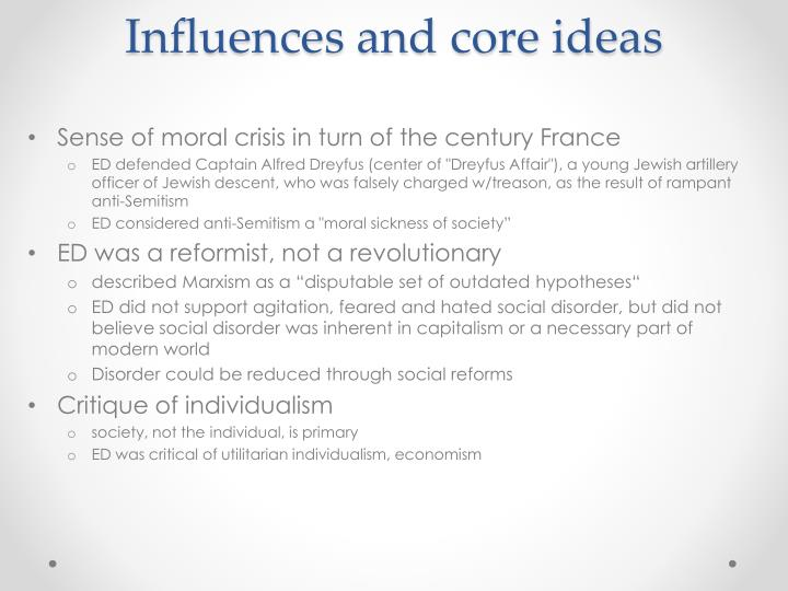 Influences and core ideas