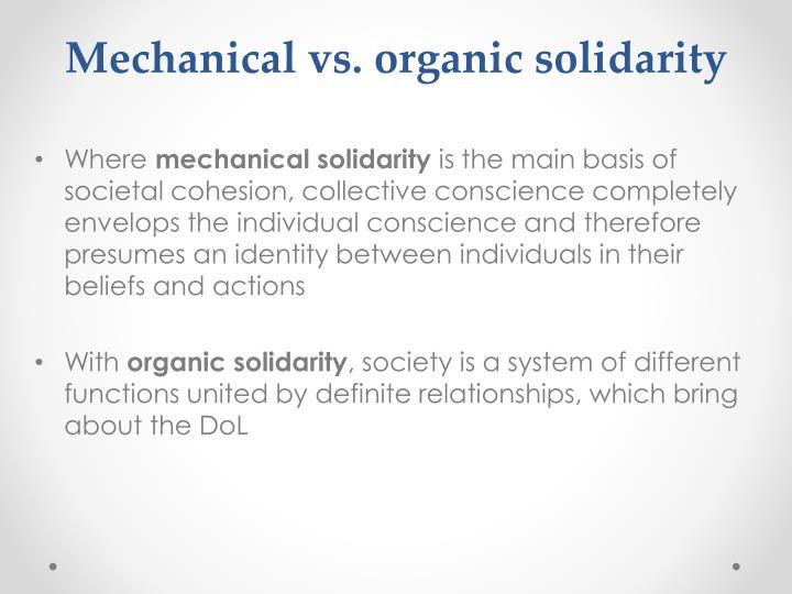 Mechanical vs