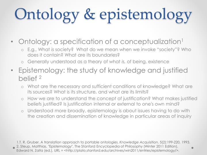 Ontology epistemology
