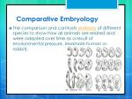 comparative embryology