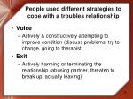 people used different strategies to cope with a troubles relationship2