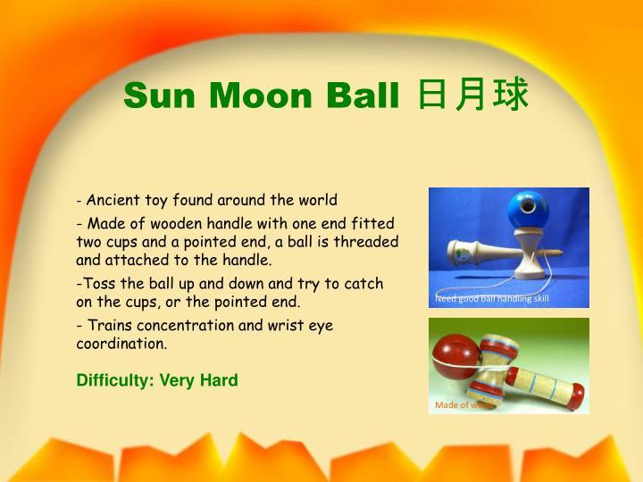 Sun moon ball