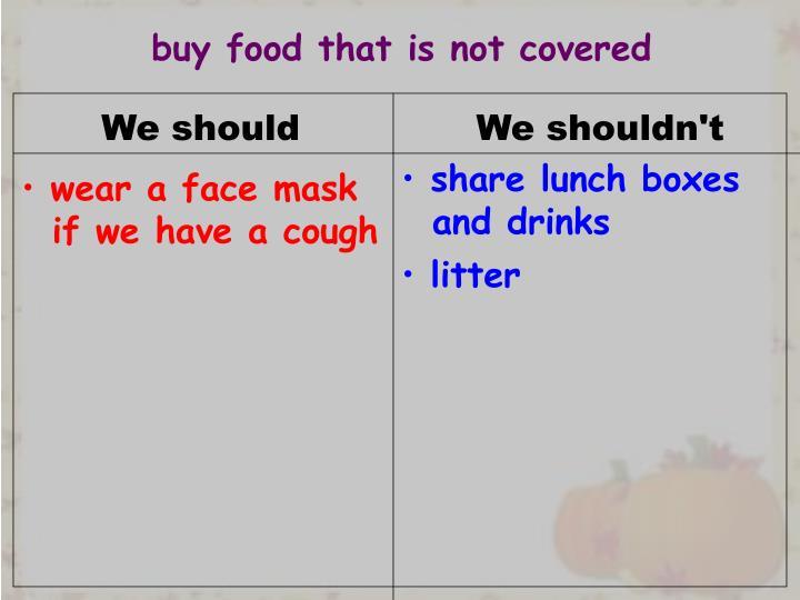 We should