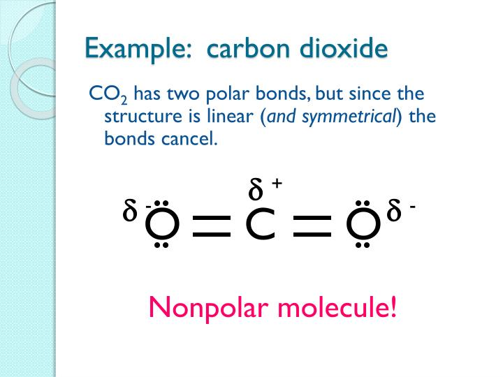 Example:  carbon dioxide