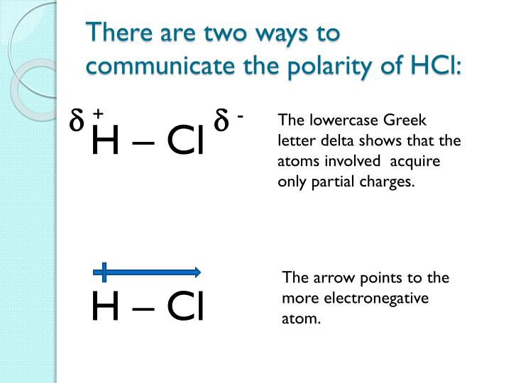 There are two ways to communicate the polarity of