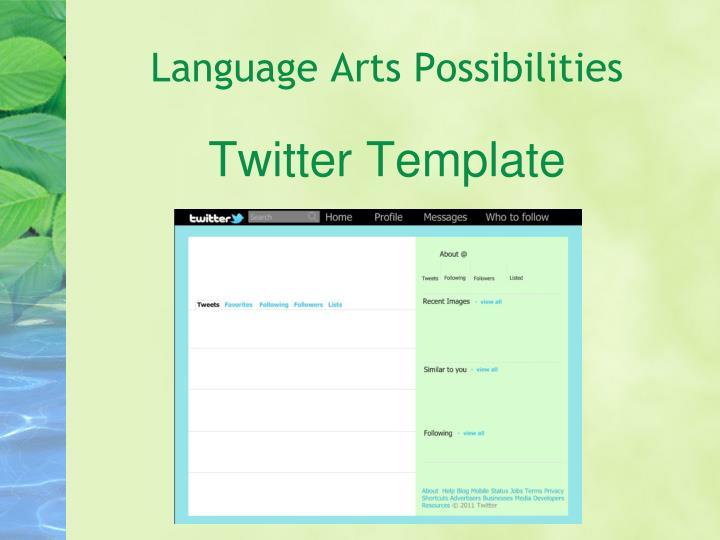 Language Arts Possibilities