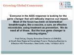 growing global consensus