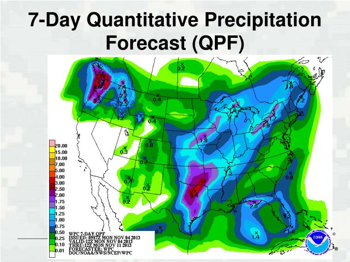 7-Day Quantitative Precipitation Forecast (QPF)