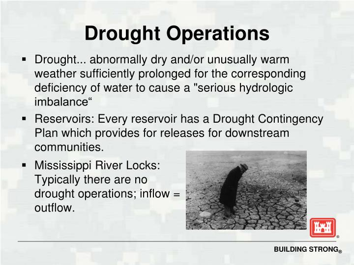 Drought Operations