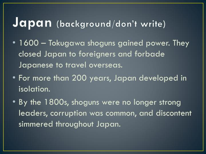 Japan background don t write