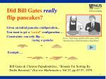 did bill gates really flip pancakes