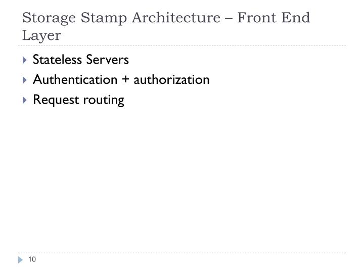 Storage Stamp Architecture –
