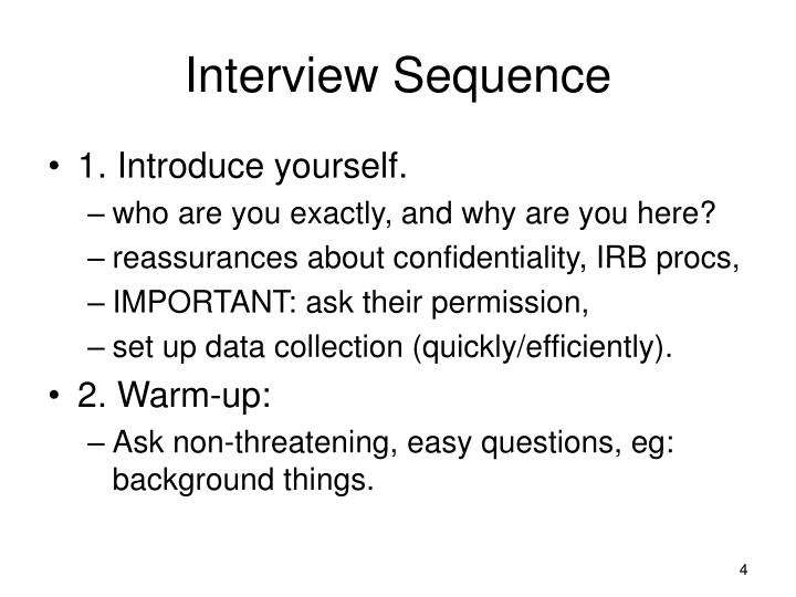 Interview Sequence