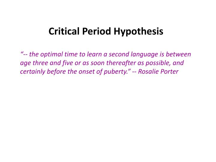 period hyphothesis
