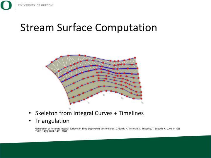 Stream Surface Computation