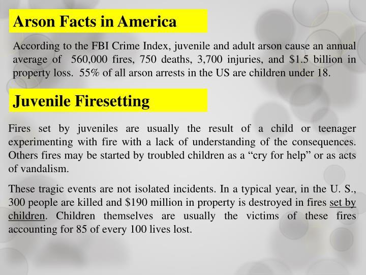 Arson Facts in America