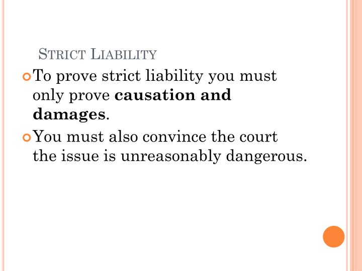 Strict liability1