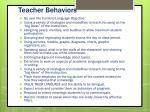 teacher behaviors