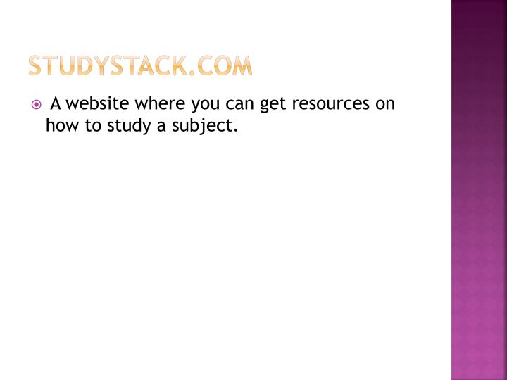 Studystack com