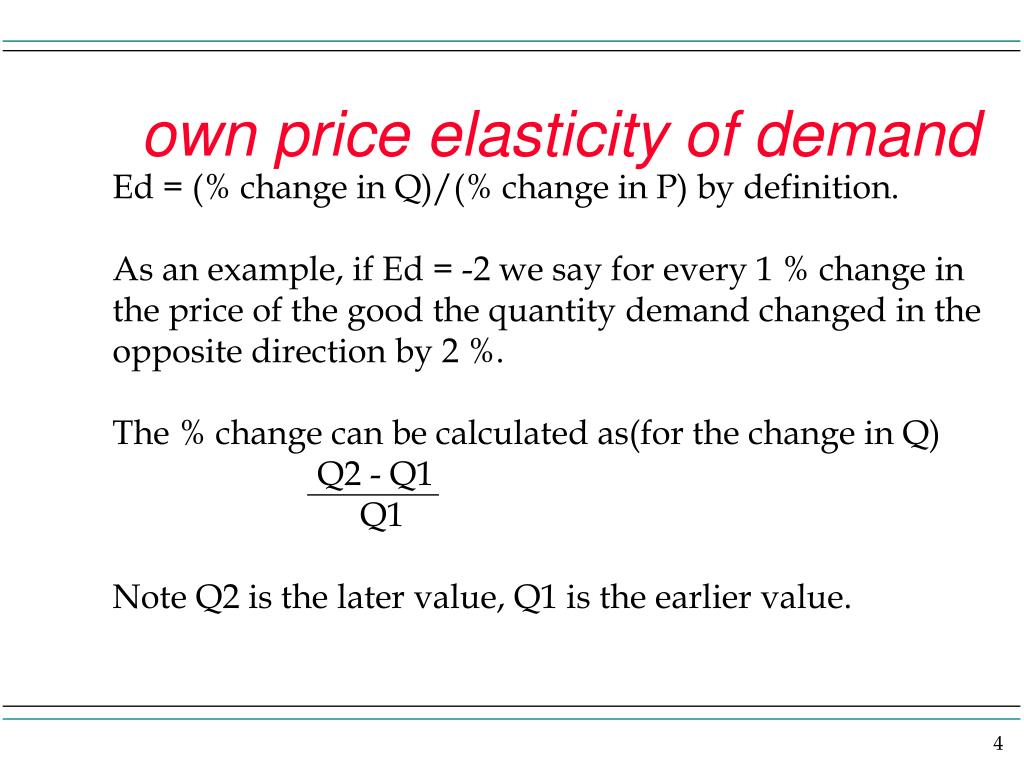Ppt Price Elasticity Of Demand And Revenue Implications