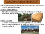 canada s forest products