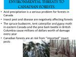 environmental threats to canadian forests