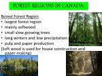 forest regions in canada